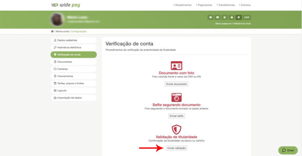 Como fazer a verificação de conta via banco?