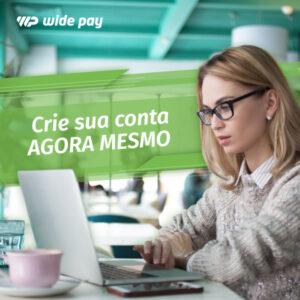 Abra sua conta wide pay